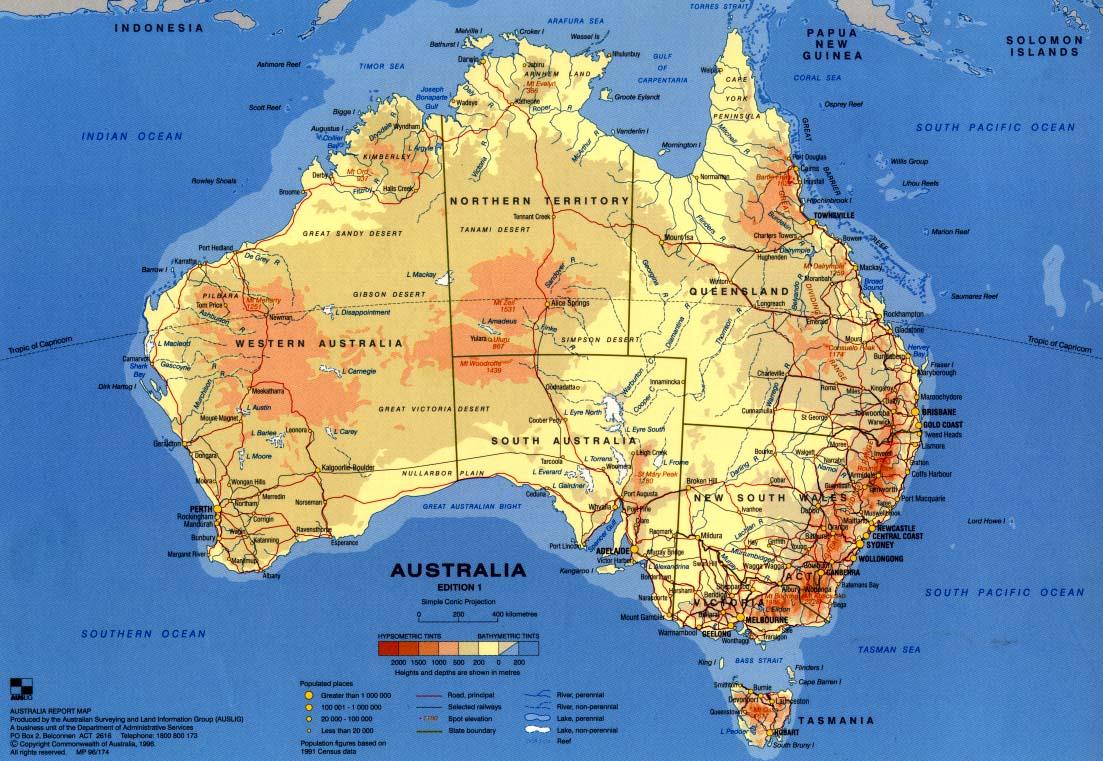 Carte Geographique Australie Gratuit Grand Format.Acceuil