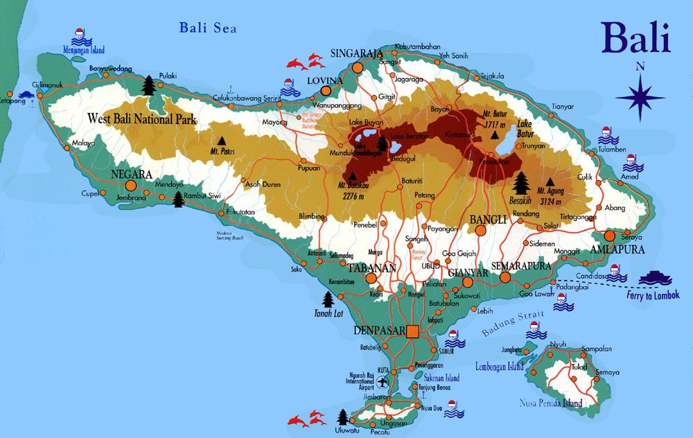 Carte Bali Lieux Touristique.Acceuil